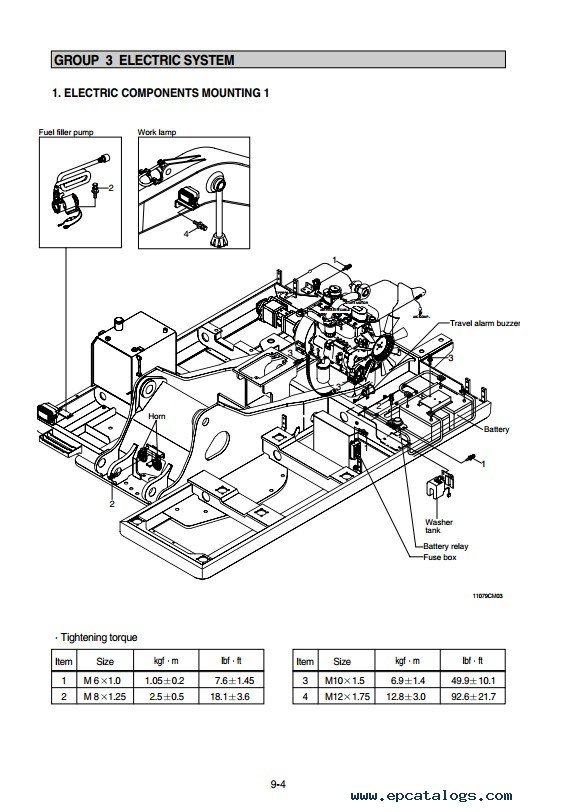 Hyundai R110-7 Crawler Excavator Repair Manual PDF Download