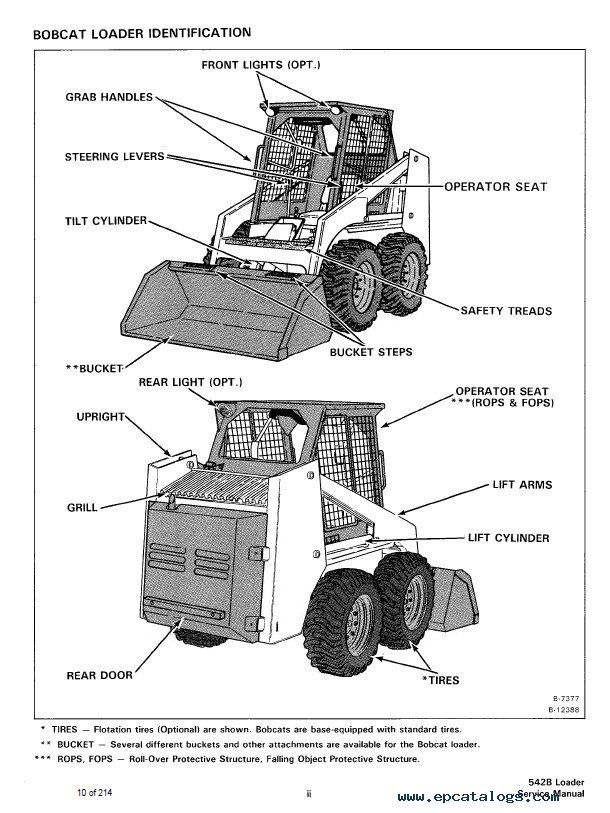 Bobcat 542B Loaders Service Manual PDF