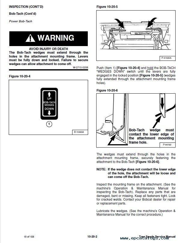 Bobcat TS24 28 30 32 34 36 44 Tree Spade Service Manual