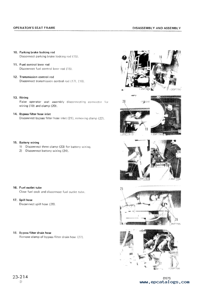 Komatsu Crawler Dozer D57S-1 Shop Manual PDF, repair