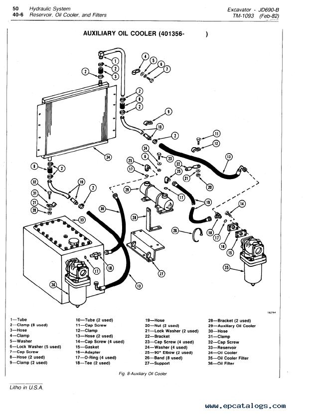 air conditioning components diagram cucv alternator wiring john deere 690b excavator tm1093 technical manual pdf