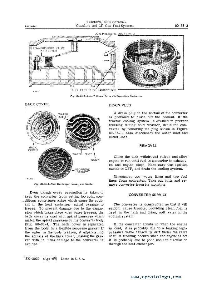 John Deere 4000 Series Tractors Service Manual SM2039 PDF