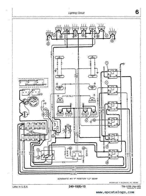 hydraulic pump wiring diagram 1989 honda accord ignition john deere 8450 8650 8850 tractor tm1256 pdf manual
