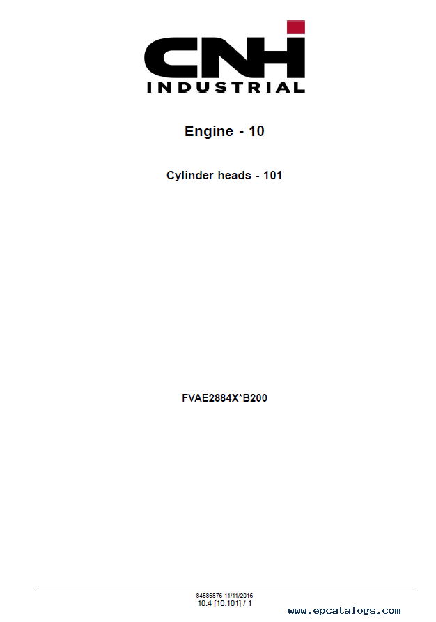 New Holland Engine Vector Tier 2 & Stage II Service Manual PDF