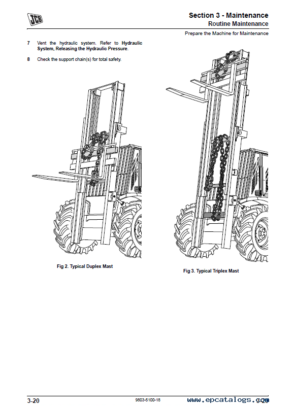 Download JCB Rough Terrain ForkLifts 926 930 940 950