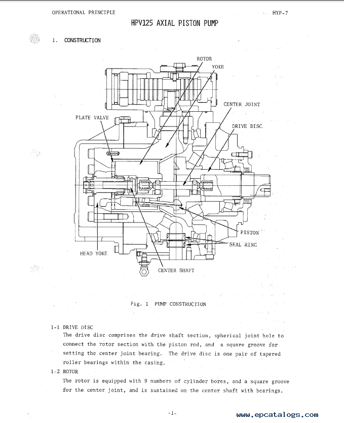 Hitachi UH121 Excavator Service Manual PDF