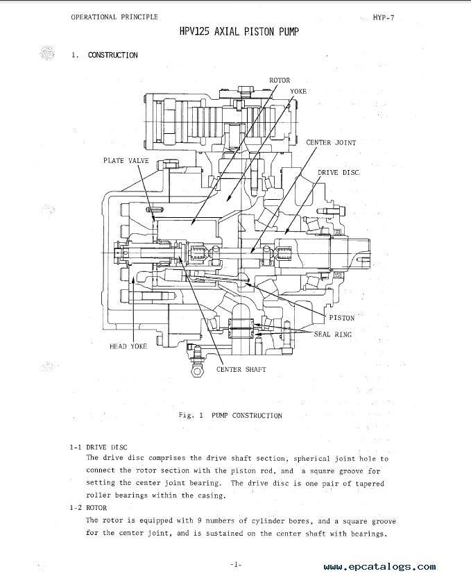 Hitachi UH121 Excavator Service Manual PDF