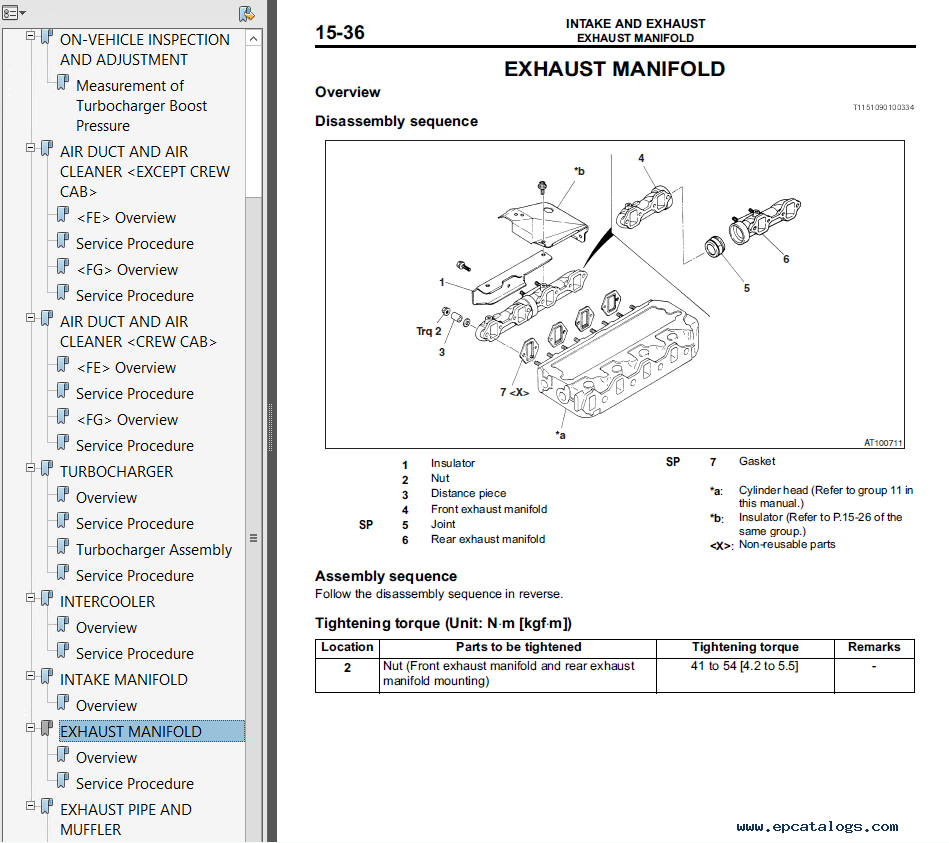 book mitsubishi 4m50 engine workshop manual