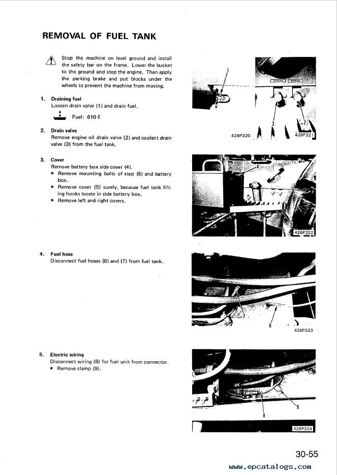 Komatsu Wheel Dozer WD600-1H Shop Manual Download