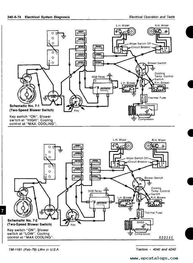 John Deere 4040 & 4240 Tractors TM1181 PDF Manual