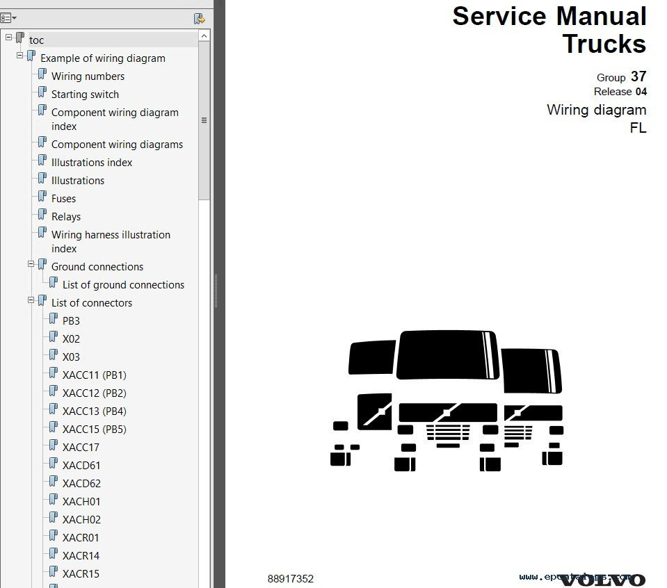 hight resolution of repair manual volvo trucks fl7 fl10 fl12 wiring diagram manual pdf 5