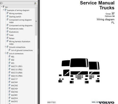 small resolution of repair manual volvo trucks fl7 fl10 fl12 wiring diagram manual pdf 5