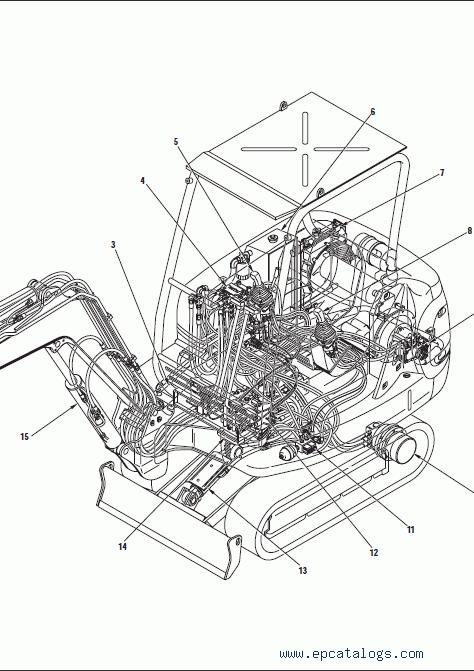 Komatsu Hydraulic Excavator PC20R-8, PC27R-8, repair