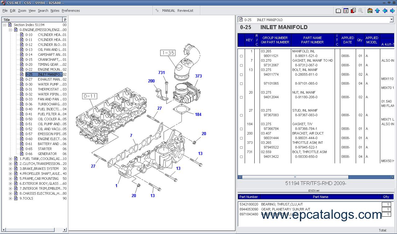hight resolution of spare parts catalog isuzu css net 2011 3