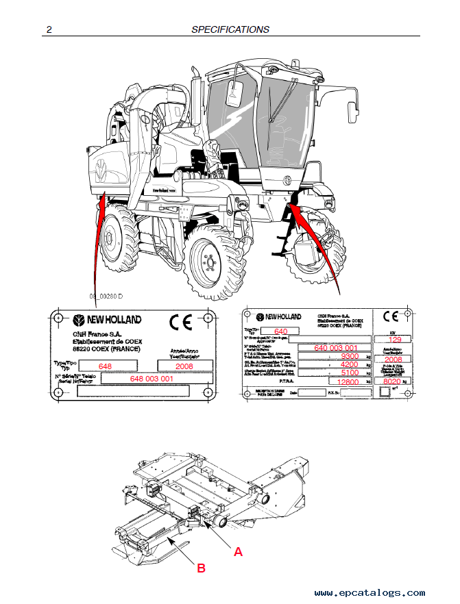 New Holland VN 2080 Grape Harvester Download PDF Service