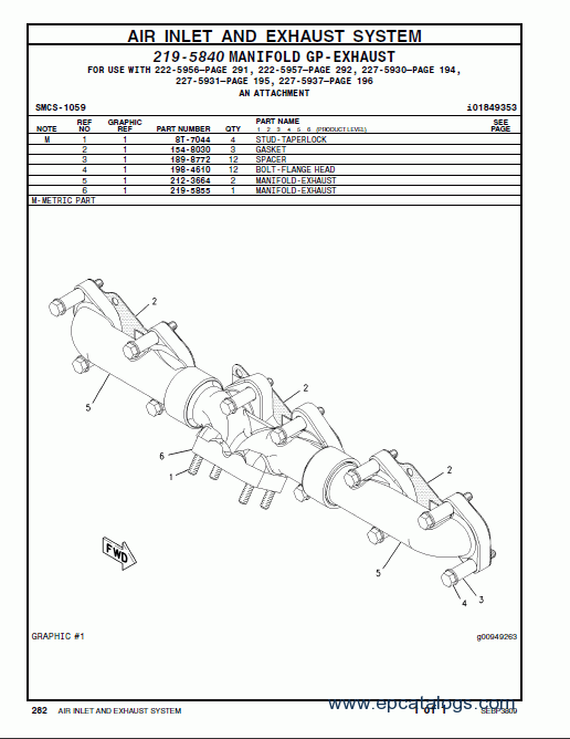 caterpillar C7 On-highway Engine Spare parts catalog Download