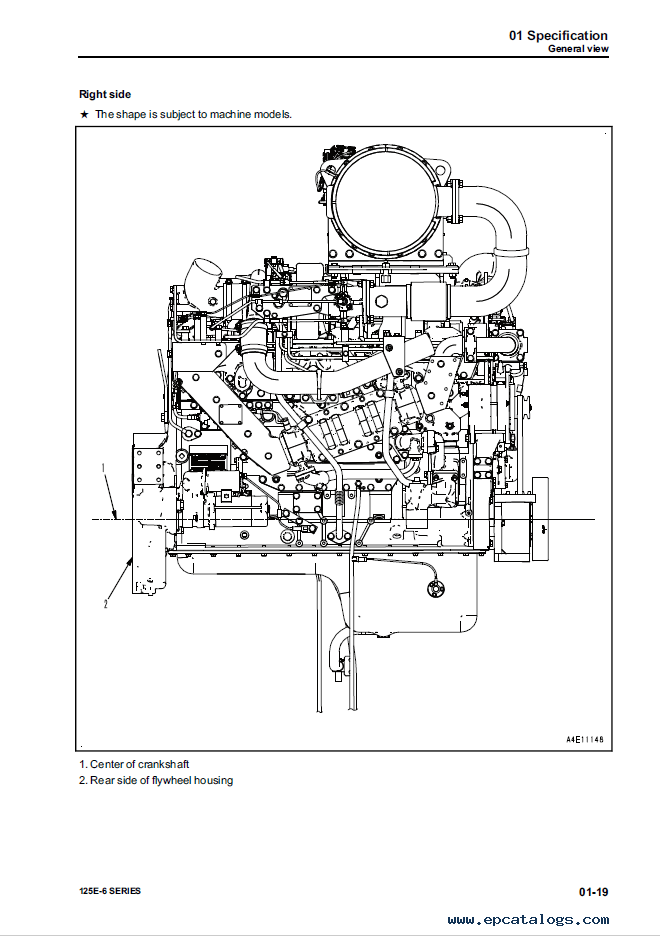 Komatsu Engine 125E-6 Series Shop Manual PDF Download