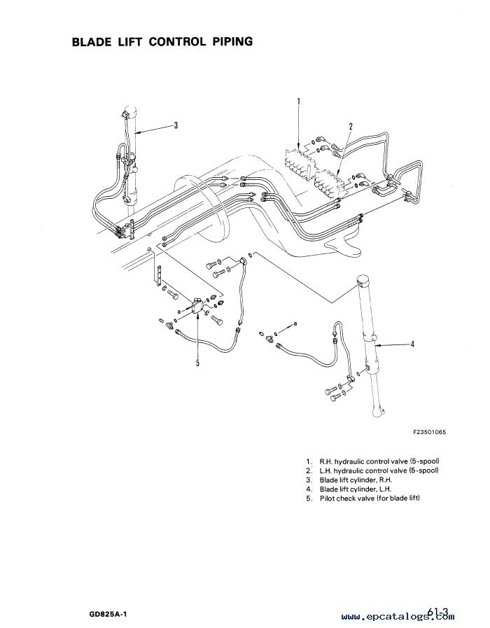 Komatsu Motor Grader GD825A-1 Shop Manual Download