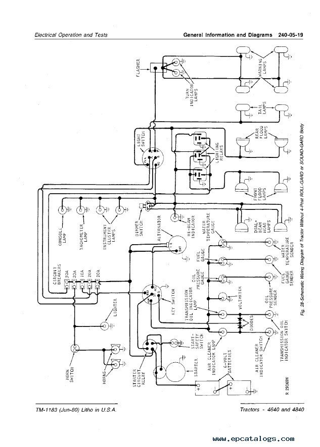 John Deere 4640 Radio Wiring Diagram : 36 Wiring Diagram