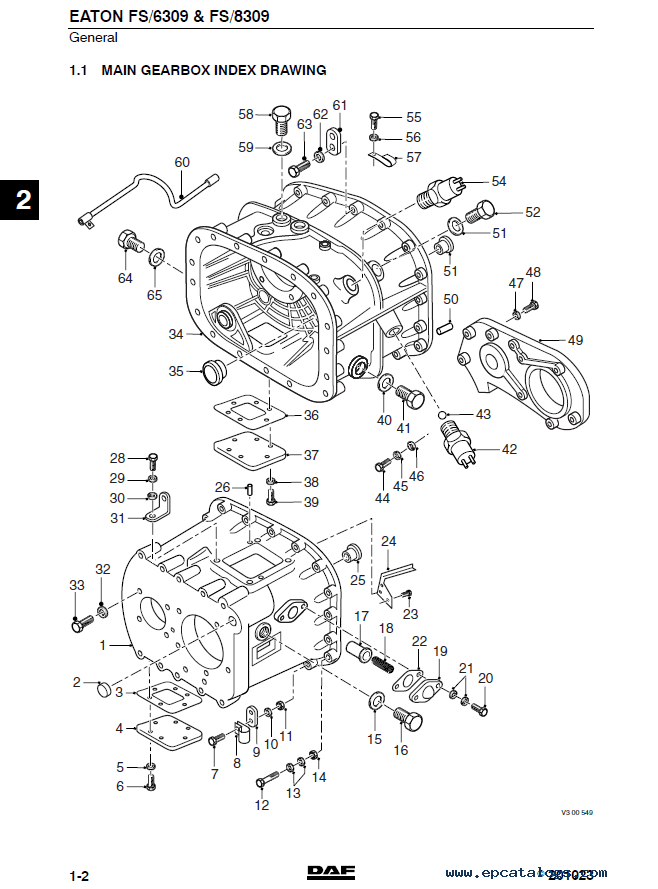 DAF Eaton Transmission FS series Components and Service
