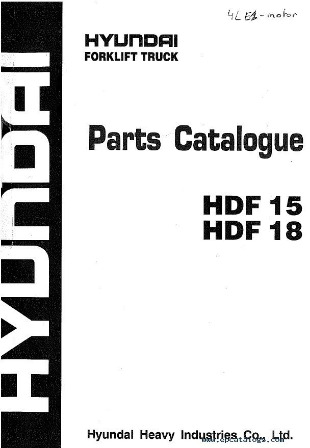 Hyundai Forklift Trucks Set of PDF Manuals