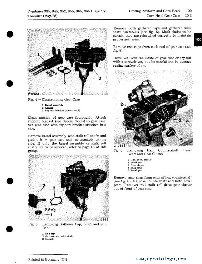 John Deere 925 935 945 955 965 975 Combines TM4307 PDF