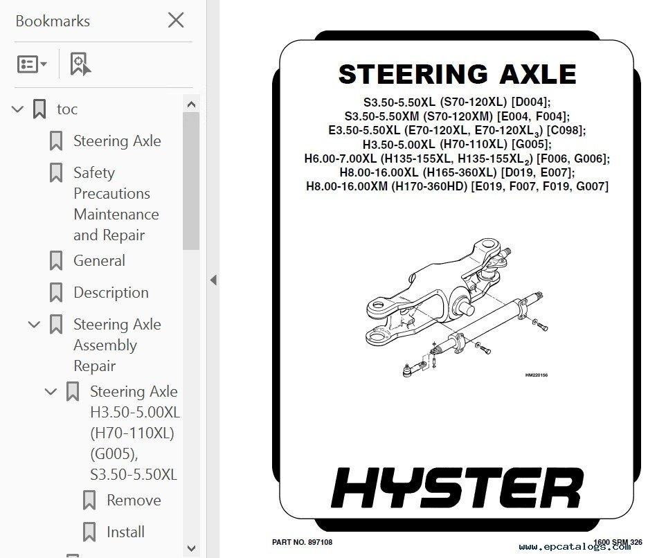 Hyster Challenger C019 H300-H360XL H330XL/360XL-EC PDF