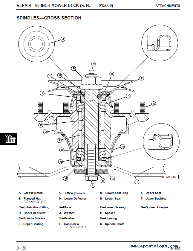 John Deere F735 Front Mower TM1597 Techical Manual PDF