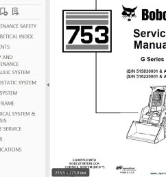 bobcat 753 g series skid steer loader service manual pdf bobcat 753 engine diagram [ 1024 x 786 Pixel ]
