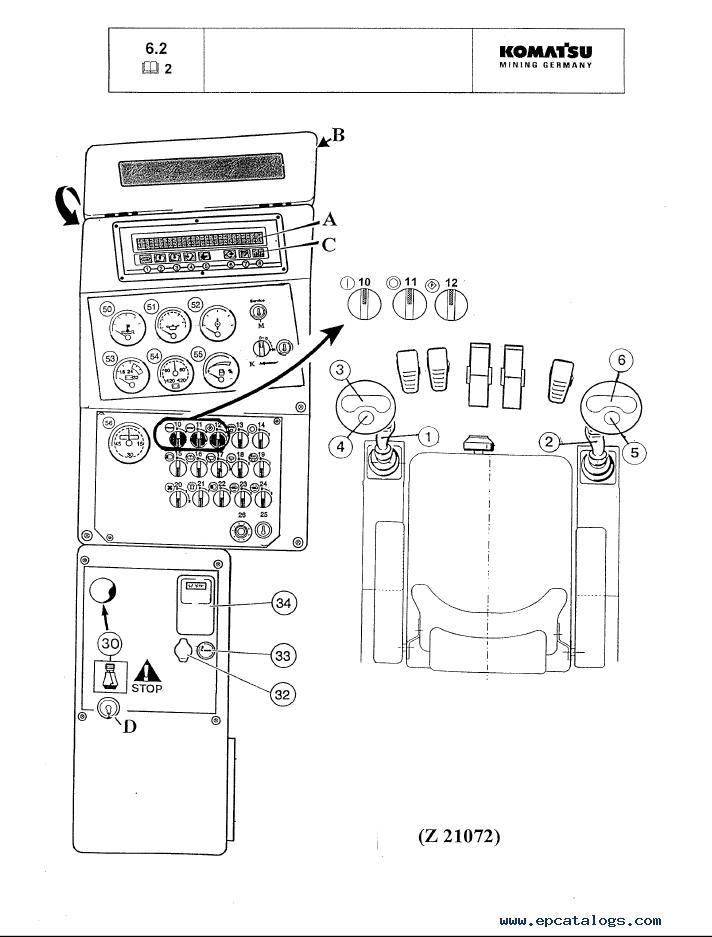 Komatsu Hydraulic Mining Shovel PC3000-1 Set of Manuals