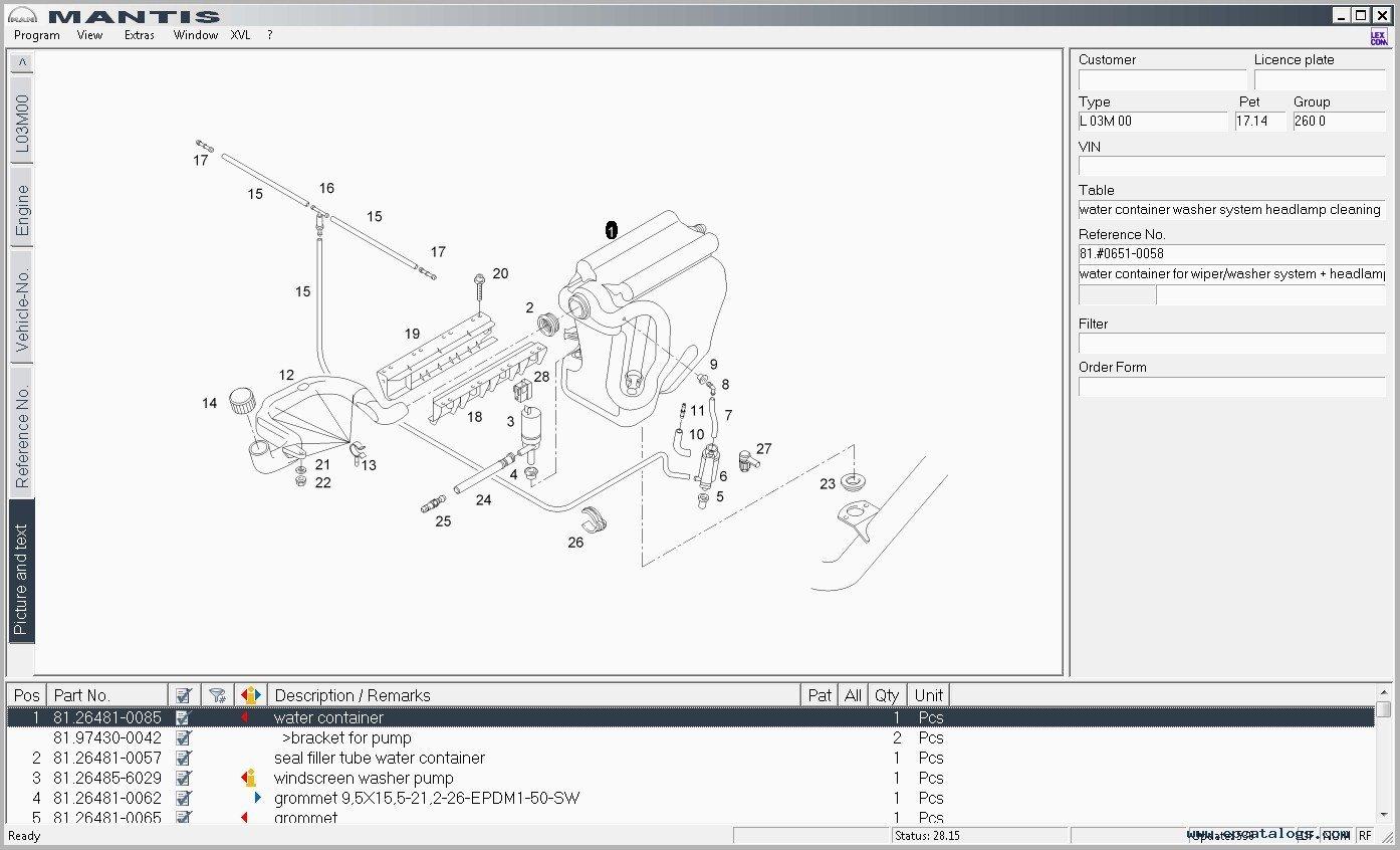 Man Mantis 2017 v5.0 / v552 Parts Catalog, spare parts