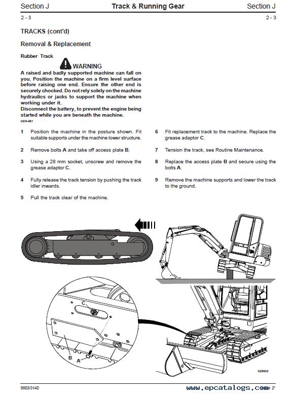 Download JCB Excavators 802 802.4 802 Super Service Manual PDF