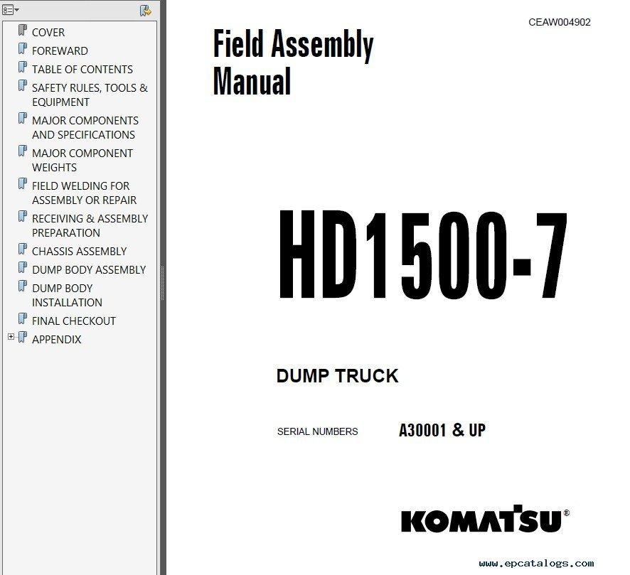 Komatsu CSS Service Mining PDF Shop Manuals Download