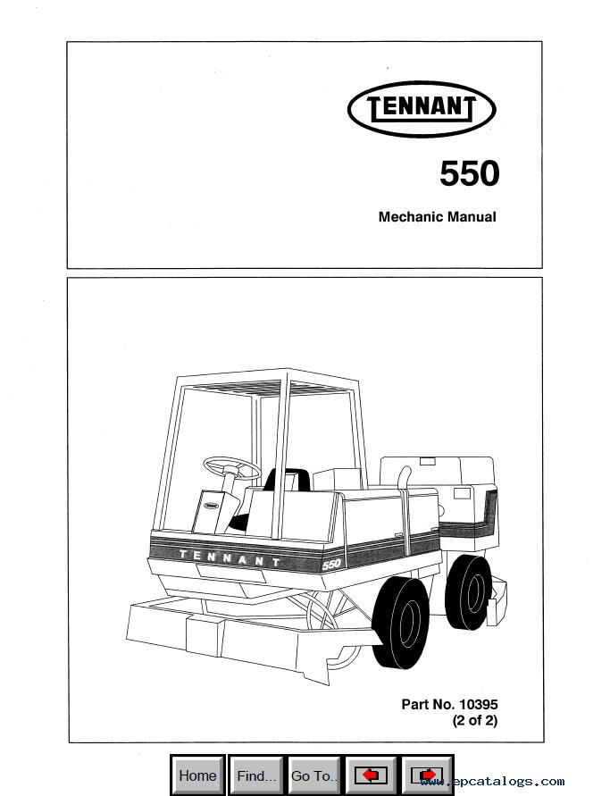 Tennant 550 Mechanic Manual PDF Mechanic Manuals