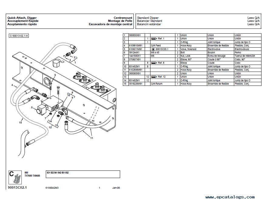 Terex Atlas Loader Backhoes 820/860/880/970/980 Parts