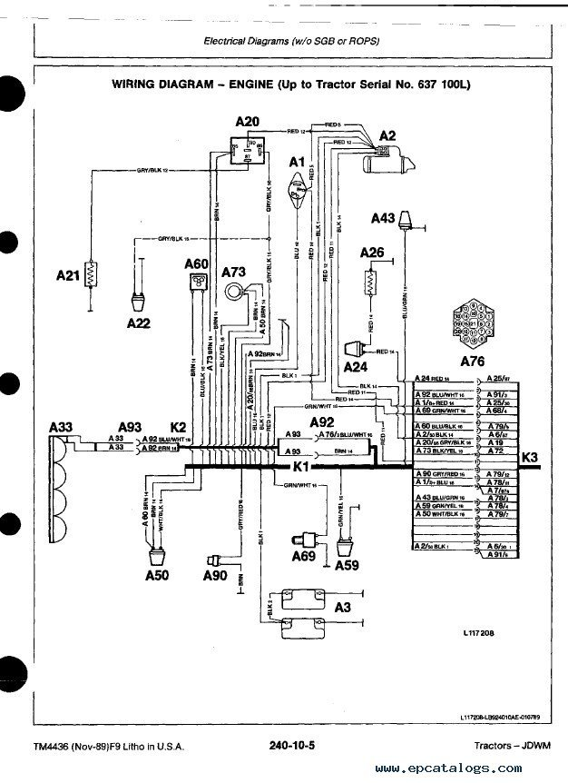 free wiring diagrams for cars telephone terminal block diagram john deere tractors tm4436 technical manual pdf