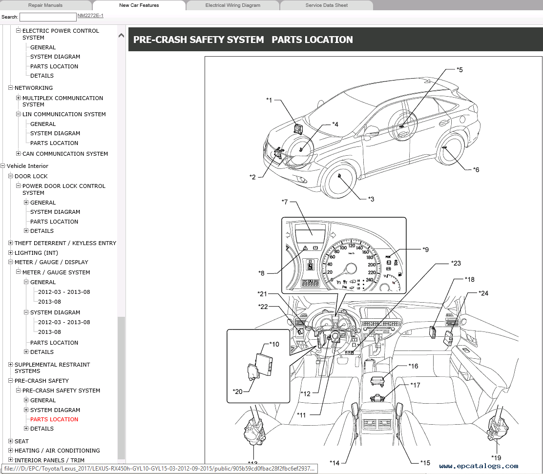 Car Engine Manuals Lexus Rx Security System