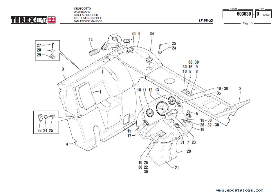 Terex TX 66-22 Lift Download factory Parts Catalogue in PDF