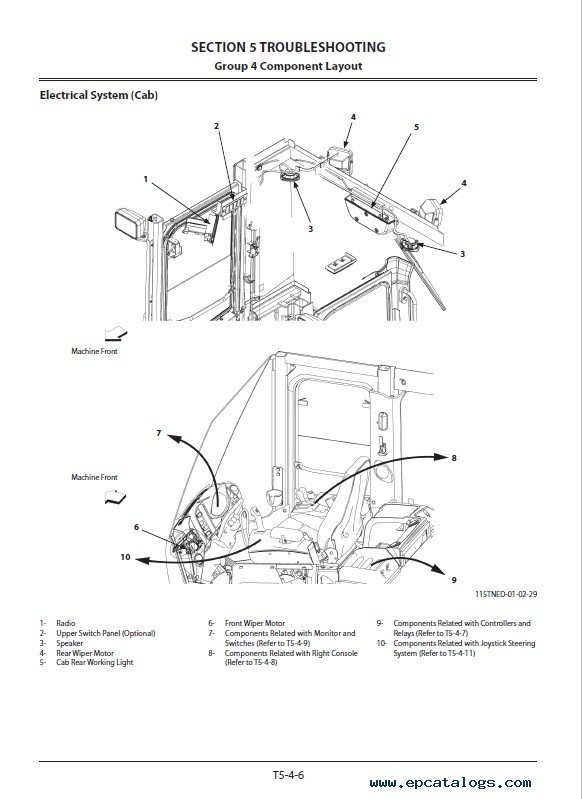 Hitachi Wheel Loader ZW550-5B Troubleshooting PDF