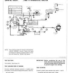 John Deere 111 Wiring Diagram 500 Watts Power Amplifier Schematic 108 111Н 112l 116 Tractors Technical Manual