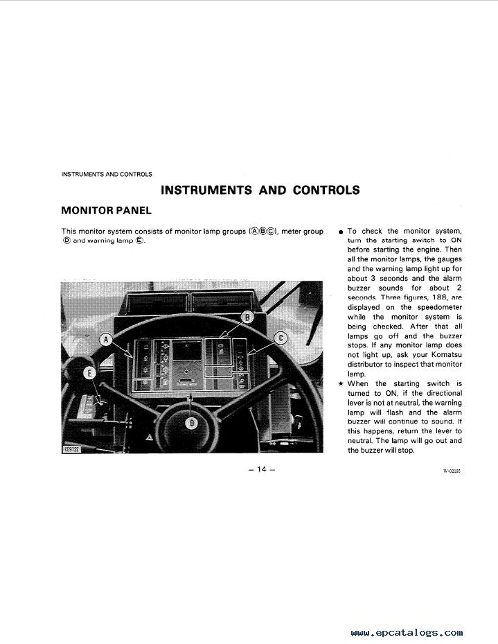 Komatsu Wheel Loader WA350-1, WA400-1, WA450-1 Manual