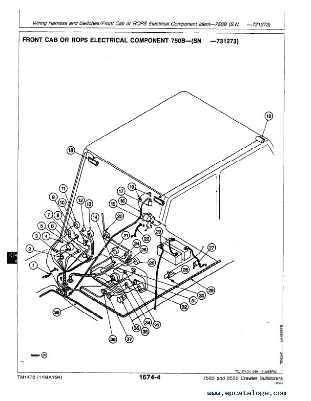John Deere 750B 850B Crawler Bulldozer Repair TM1476 PDF