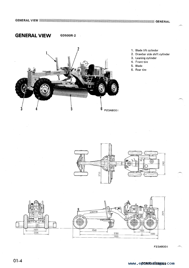 Komatsu GD500-2 Series Shop Manual PDF Download