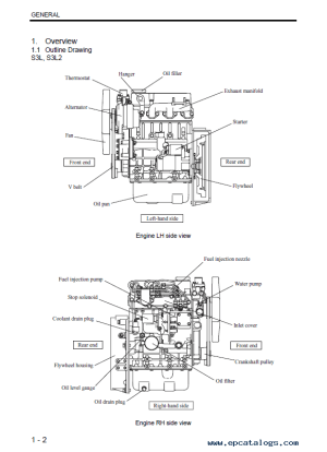 Download Mitsubishi EngineS S3L(2) S4L(2) Service Manual