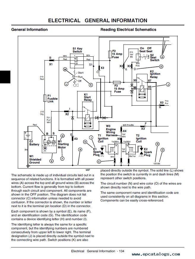 110 Electrical Schematic Wiring Diagram John Deere 110 Tractor Loader Backhoe Technical Manual