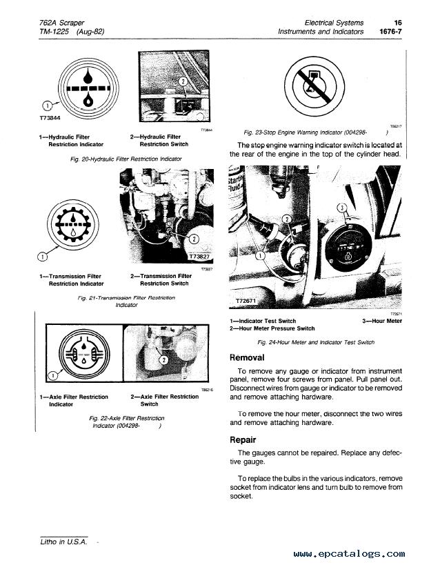 John Deere 762A Scraper TM1225 Technical Manual PDF