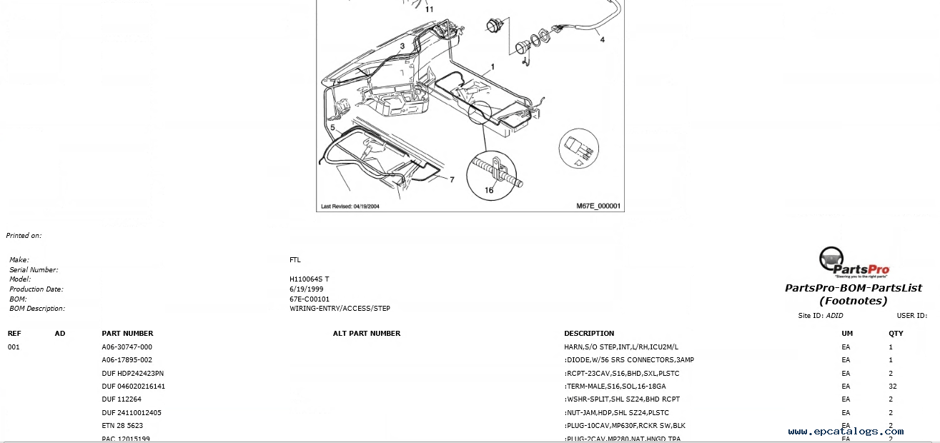 hight resolution of spare parts catalog freightliner argossy h110064s t spare parts catalog 4