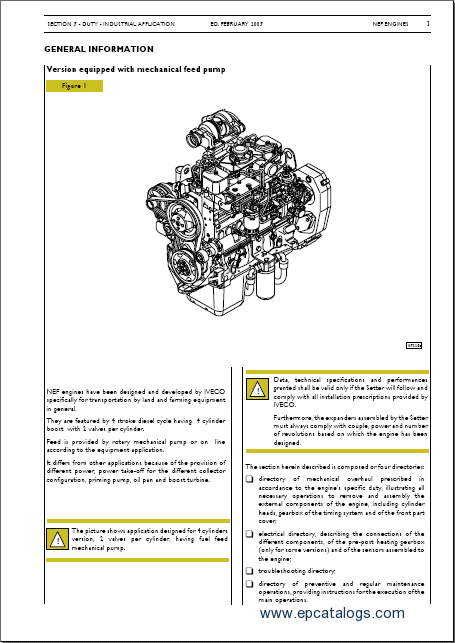 NEF Engines Technical and Repair Manual Download