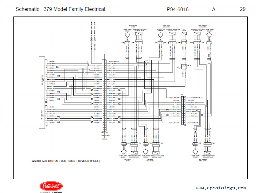 Peterbilt Truck 379 Model Family Schematic Manual PDF Download