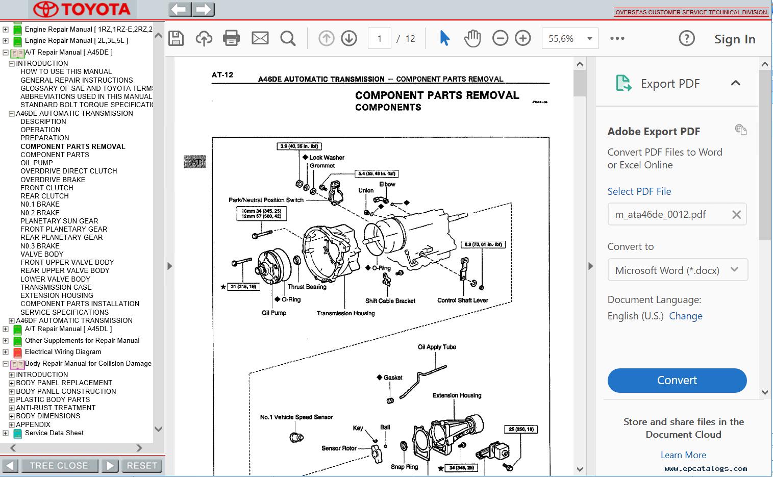 hight resolution of repair manual toyota hiace repair manual pdf 1